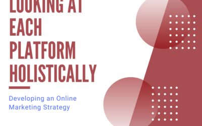Developing an Online Marketing Strategy: Looking at Each Platform Holistically